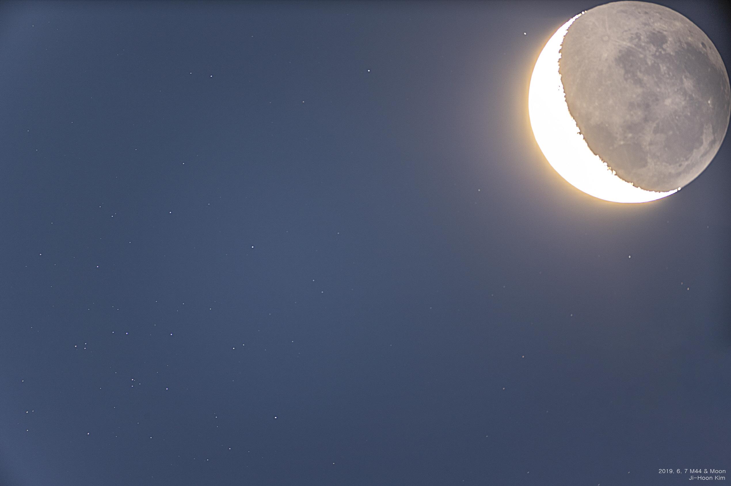 [크기변환]2019. 6. 7 Moon & M44 .jpg - 망원경버전.jpg - 이름.jpg